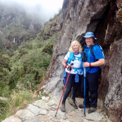 MND NSW couple trekking inca trail one with MND